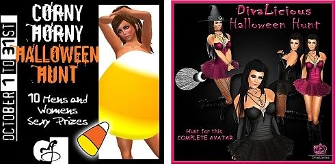 Corny Horny Halloween Hunt & DivaLicious Halloween Hunt in Second Life