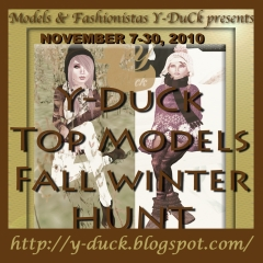 Y-Duck Top Models Fall Winter Hunt in Second Life