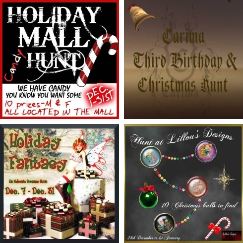 4 Christmas Hunts in Second Life II