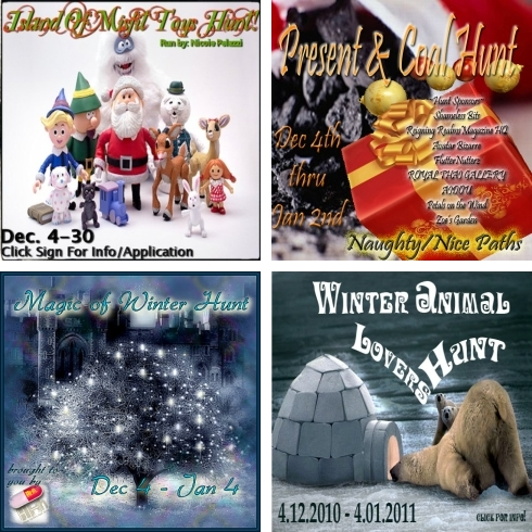 4 Christmas Hunts in Second Life