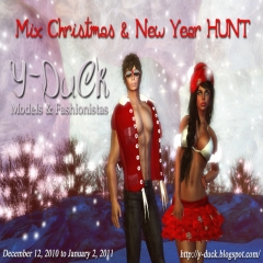 Mix Christmas with New Year Hunt in Second Life