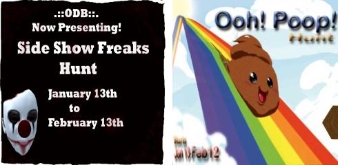 Side Show Freaks Hunt & Ooh! Poop! Hunt in Second Life