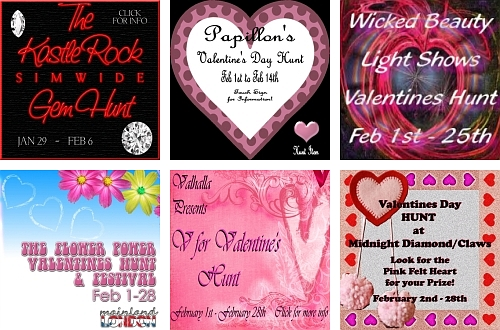 6 Valentine's Day Hunts in Second Life