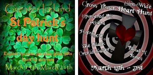 St. Patrick's Day Hunt & Cross Your Heart Hunt in Second Life