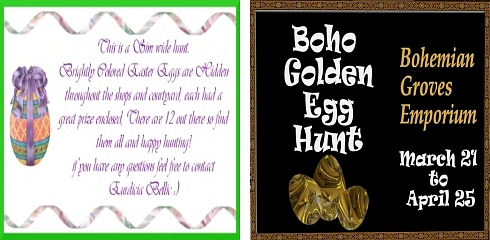 Euri's Paradise Easter Hunt & Boho Golden Egg Hunt in Second Life