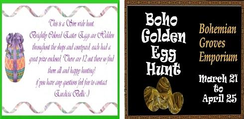 Euri's Paradise Easter Hunt & Boho Golden Egg Hunt in Second Life