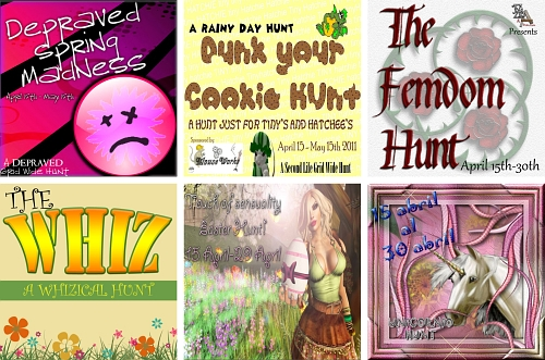 6 Hunts in Second Life