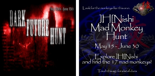 Dark Future Hunt & ]H[Nishi Mad Monkey Hunt in Second Life