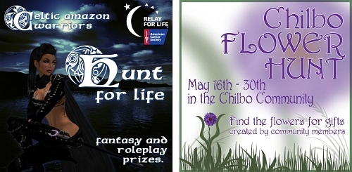 CAW Hunt For Life & Chilbo Flower Hunt in Second Life