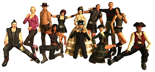 12 New Avatars in Second Life