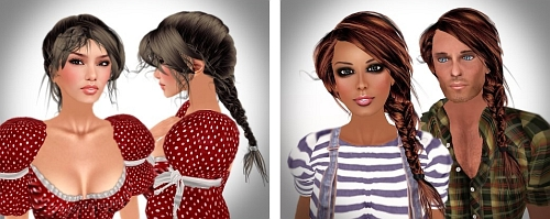 2 Hairstyles by Alli & Ali in Second Life