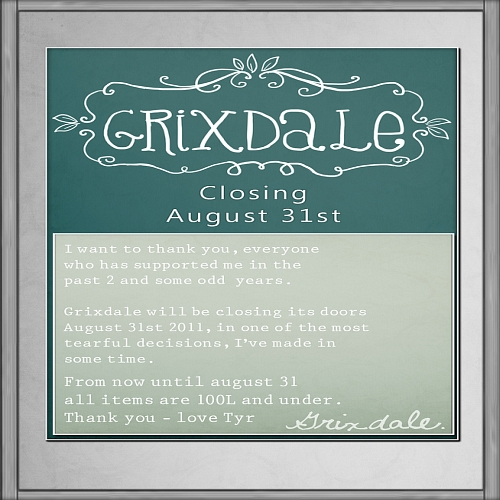 Closing Sale @ Grixdale in Second Life