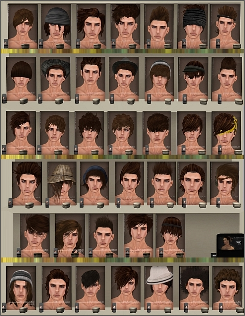Hair Fatpacks for Men @ CheerNo in Second Life