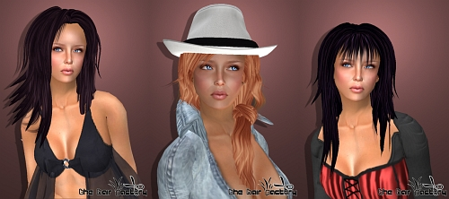 3 Hairstyles by The Hair Factory in Second Life II