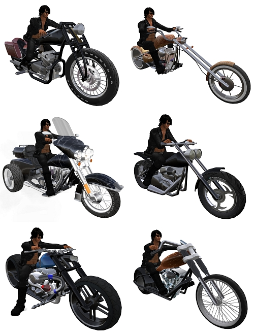The Wild One Hunt in Second Life (Free Bikes)