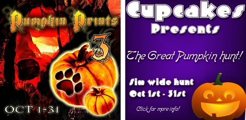 Pumpkin Prints Hunt 3 & The Great Pumpkin Hunt in Second Life
