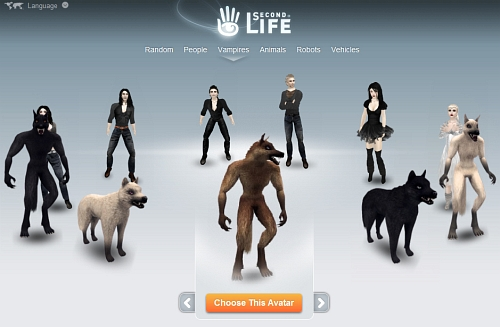 12 New Avatars in Second Life - 6 Vampires & 6 Werewolves
