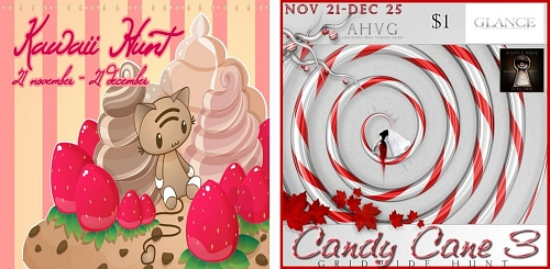 Kawaii Hunt & Candy Cane 3 Hunt in Second Life