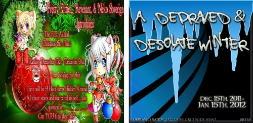Christmas Sim Hunt & Depraved & Desolate Winter Hunt in Second Life