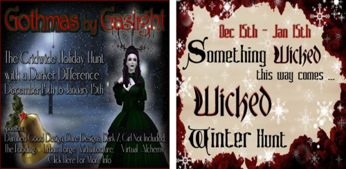 Gothmas by Gaslight Hunt & Wicked Winter Hunt in Second Life