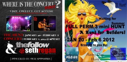 Where is the Concert Hunt & Full Perm Hunt 3 in Second Life