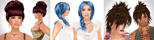 3 free Hairstyles by Alli & Ali in Second Life