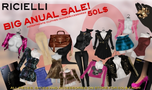 Big Anual Sale @ Ricielli in Second Life