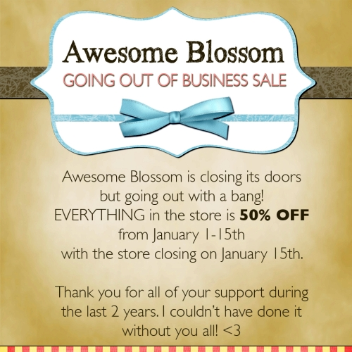 Closing Sale @ Awesome Blossom in Second Life