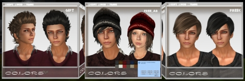 Free Hairstyles for Men in Second Life