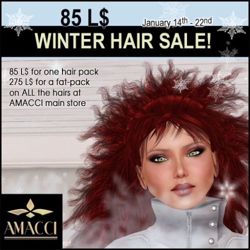 Hair Sale @ Amacci in Second Life