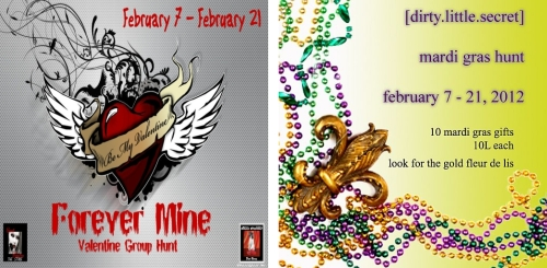 Forever Mine Hunt & Mardi Gras Store Hunt in Second Life