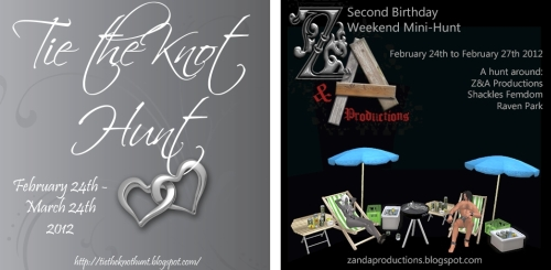 Tie the Knot Hunt & The Z&A Birthday Mini-Hunt in Second Life