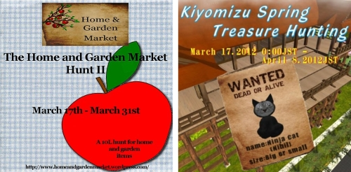 Home & Garden Market Hunt 2 & Kiyomizu Spring Hunt 2012 in Second Life