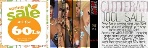 3 Sales in Second Life