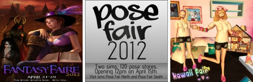 3 Fairs in Second Life