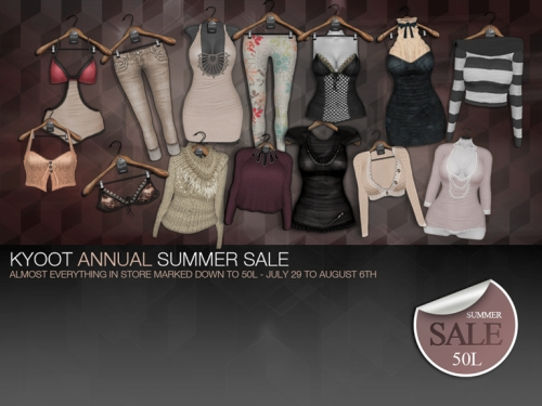 Annual Summer Sale @ Kyoot in Second Life
