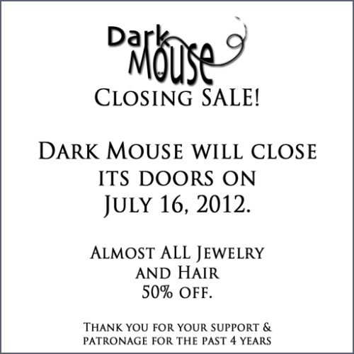 Closing Sale @ Dark Mouse in Second Life