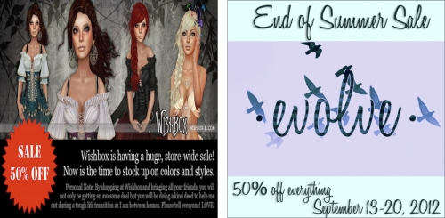 2 Sales in Second Life