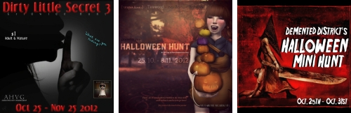 3 Hunts in Second Life