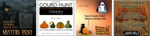 4 Halloween Hunts in Second Life