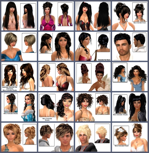 Hairstyles Top 20 in Second Life