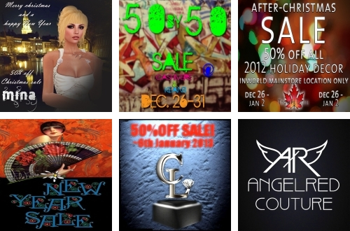 6 Sales in Second Life