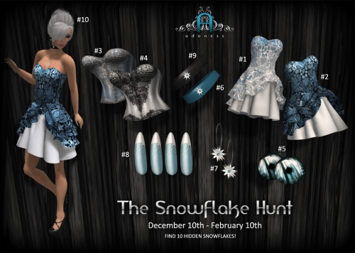 The Snowflake Hunt at Adoness in Second Life