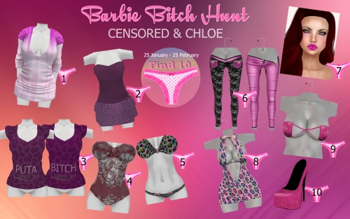Barbie Bitch Hunt in Second Life