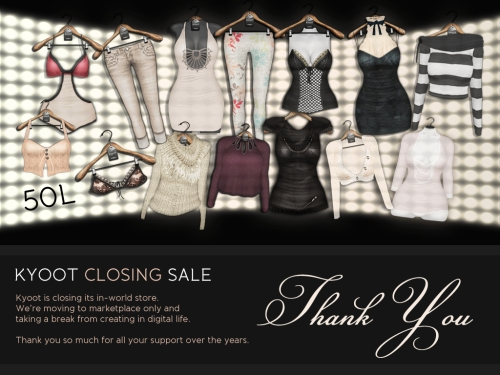 Closing Sale @ Kyoot in Second Life