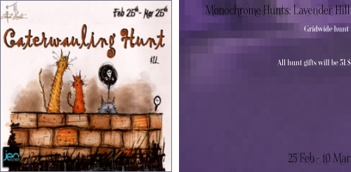 Caterwauling Hunt & Lavender Hill Hunt in Second Life