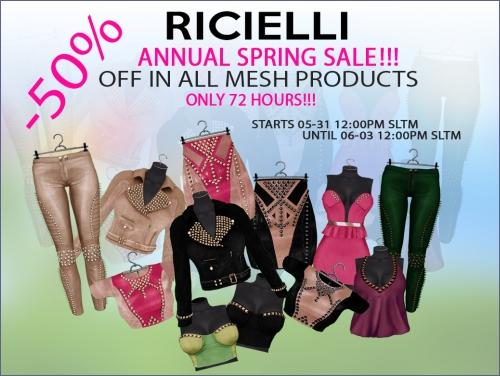Ricielli Annual Spring Sale in Second Life