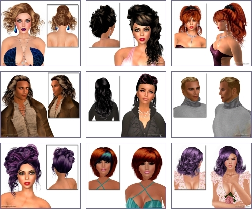 Free Hairstyles in Second Life (Dollarbies)