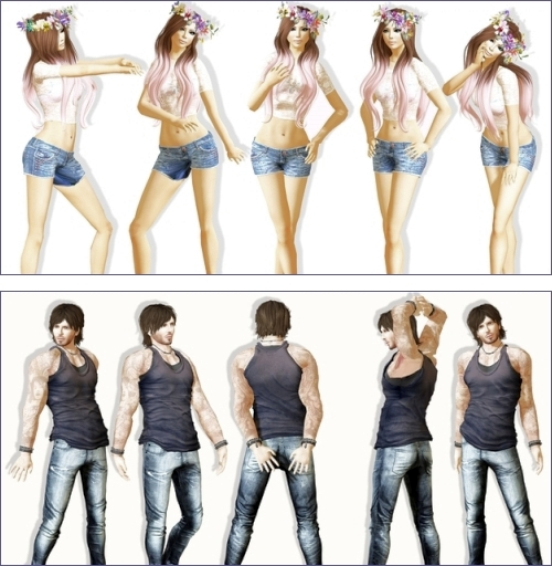 10 Free Poses in Second Life