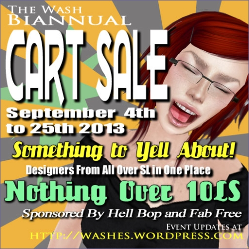 The Wash Biannual Cart Sale in Second Life